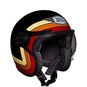 Royal Enfield Gloss Black Open Face with Visor Helmet Size (M)58 CM (RRGHEI000110)