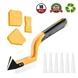 GOCHANGE 10PCS Caulking Tool Kit,Silicone Sealant Finishing Tool Kit,Remover Smoothing Sealing Caulking Tool for Bathroom Kitchen Room Frames