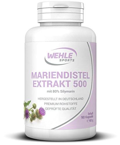 Mariendistel Extrakt 500 mg - 80% Silymarin (400mg) Wehle Sports (90 Kapseln)
