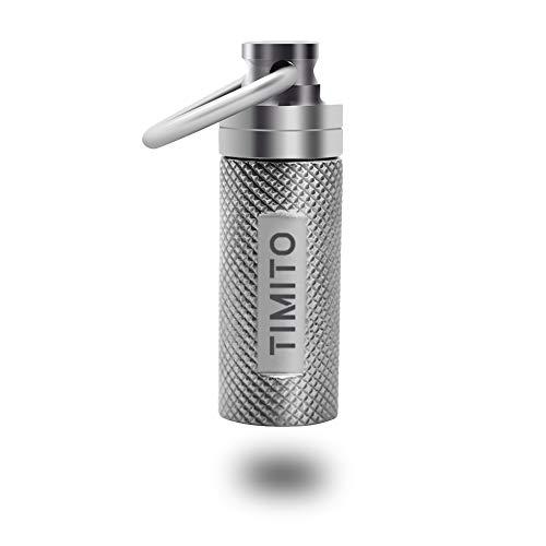 Titan Pillendose Pillenbehälter(Anhänger)-Haltung von Notfall Pillen & Nitroglycerin Tablettenbox für Mann und Frau-Wasserdicht, Leichtes Gewicht u...