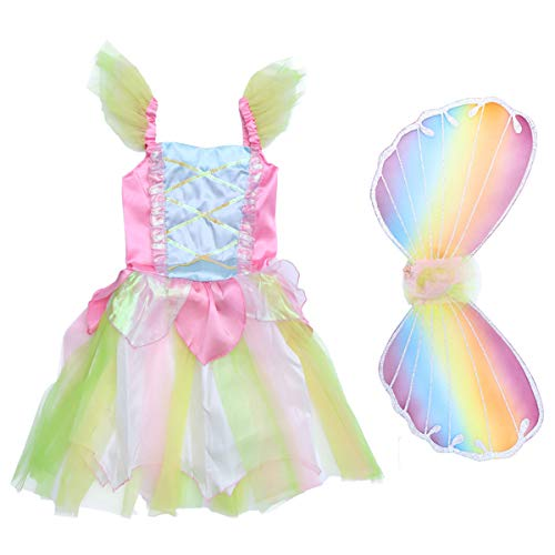 Kind Garten Fee Kostüm - Mädchen Fee Prinzessin Kleid Kostüm Set