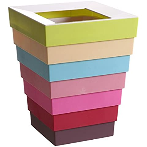 Modo creativo pieghevole Bagno Cestino salone della casa di plastica lattine colorate pattume (colore facoltativo) ( colore : B.
