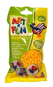 Simba 106374417 Art and Fun - Cuentas (1000 Unidades, en Bolsa), Color Amarillo