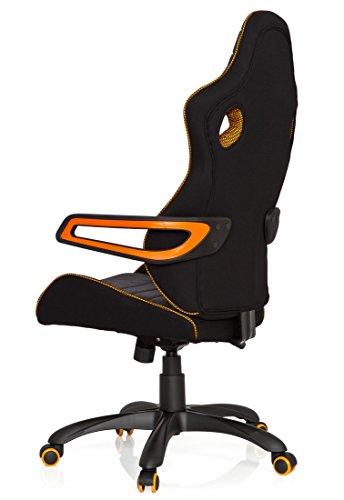 41o8a8AIMvL - hjh OFFICE 621850 RACER PRO IV - Silla gaming y oficina, tejido negro/gris/naranja