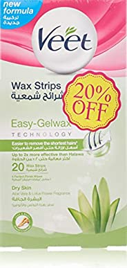 Veet Cold Wax Strips Dry 20 strips Twin Pack At 20% Off