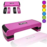 Xn8 Sports Adjustable Stepper Step Block Stylish Design Cardiovascular Fitness Aerobic Exercise Gym