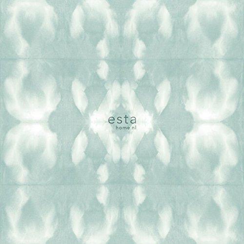 Kreidedruck Eco Texture Vliestapete Tie-Dye Shibori Muster Vergrautes, helles Pastell Mint Grün - 148682 - von ESTAhome.nl (Dye Pastell-tie)