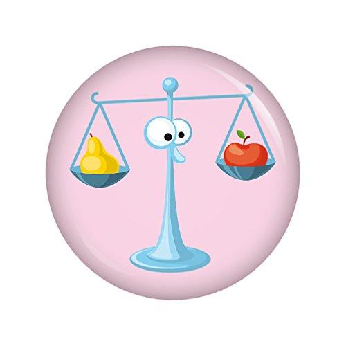Preisvergleich Produktbild Kiwikatze® Sternzeichen - Astro Waage 37mm Button Ansteckbutton Pin Geschenk Mitbringsel Astrologie Horoskop Sterne