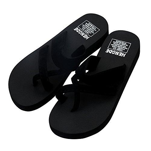Tongs d été Femme,Pantoufles de Plage Sandales Plates Chaussures à Bout  Ouvert Bringbring f41aa496fa25