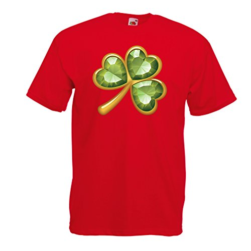 lepni.me Männer T-Shirt Irish shamrock St Patricks day clothing (Small Rot Mehrfarben)