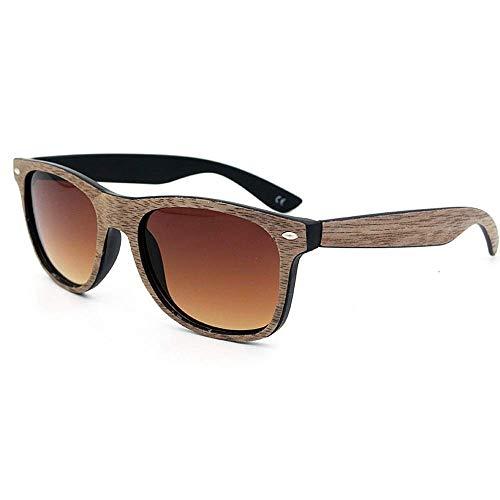 JFFFFWI Ofgcfbvxd-gla Mode Unisex Fahren Sonnenbrille Retro persönlichkeit farbige linse Holz Sonnenbrille uv Schutz handgemacht für männer Frauen für männer \u0026 Frauen Ultraleicht (Farbe: c15)