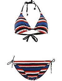 Traje de baño bikini de triángulos Livia Acklins Marino Multicolor