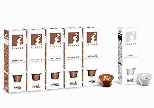 50 Kakaokapseln CIOCCOLATO Bevanda al Cacao + 10 Milchkapseln LATTE