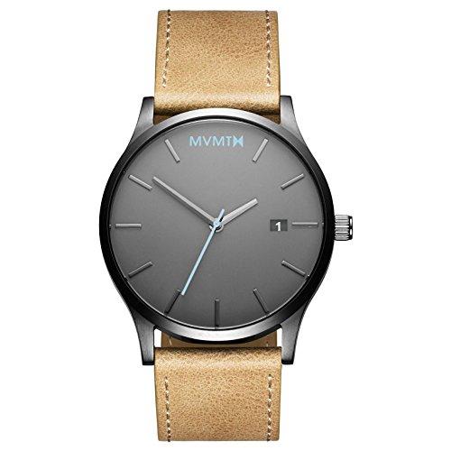 MVMT Herren Analog Quarz Uhr mit Leder Armband D-MM01-GML