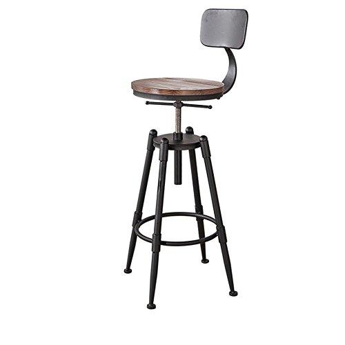 GYP Chaises de bar, Tabouret rond Tabouret haut à manger Chaise de fer Hauteur de chaise réglable de 68 à 90 cm Style rétro acheter (Matériel : #2, style : A)