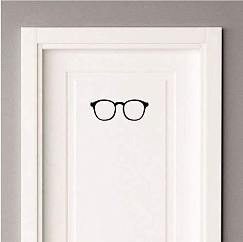 Chi Wall Sticker 21 * 7,7 cm Brille Tür Dekoration Aufkleber Grafische Personalisierte Wandaufkleber Schwarz