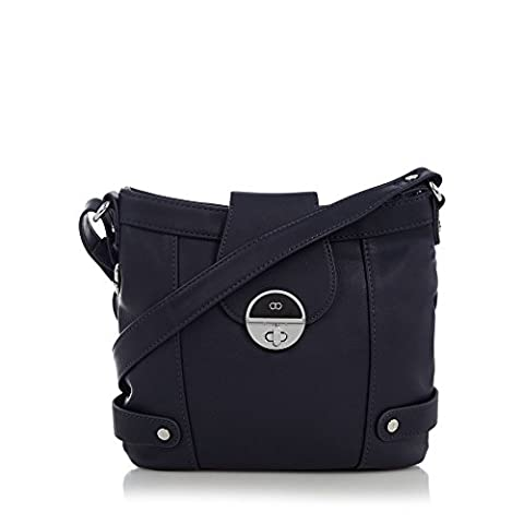 The Collection Navy Twist Lock Cross Body Bag