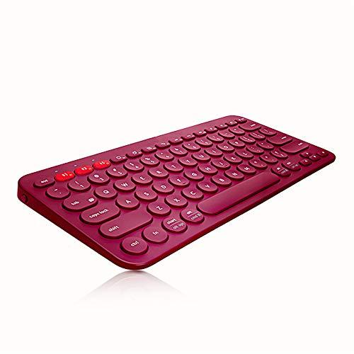 Lardoo Drahtlose Bluetooth-Tastatur Drahtlose Mehrgerätetastatur für Mac OS Windows Auch für IOS Android Universal