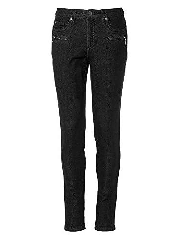 sheego Denim Damen Jeans Übergröße schwarz 42/XL kurz