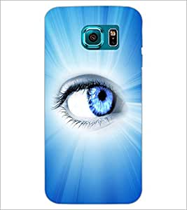 PrintDhaba Blue Eye D-5798 Back Case Cover for SAMSUNG GALAXY S6 (Multi-Coloured)