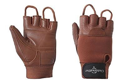 Globaleather Classic Fingerless Brown Wheelchair Glove