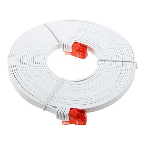 InLine  Flat patch cord UTP Cat.6 15m White