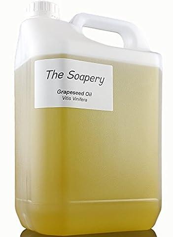 Traubenkernöl 5 Liter – kosmetische Qualität – auch Trägeröl für Massage und Aromatherapie (Dunkle Bräunung Formel)