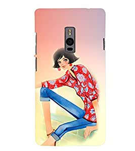 PRINTSWAG BEAUTIFUL GIRL Designer Back Cover Case for ONE PLUS TWO