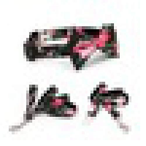 Klassische Webart-gewebe (KQPZLDH HaustierleineBlack floral Bowtie Hundehalsband Bogen mit Leine, Soft Padded Puppy & Cat Haustier Zubehör für Welpen, mittlere und große Hunde)