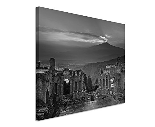 canvas-print-50-x-70-cm-black-white-top-quality-ruins-flavian-amphitheatre-atna-sunset