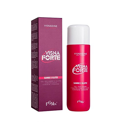 FGM04 Visna Forte Gel anticellulite, con Esperidina e Mirtillo, Donna, 200 ml