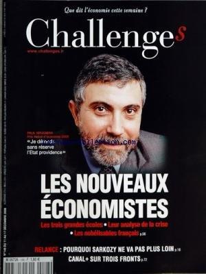 CHALLENGES [No 148] du 11/12/2008