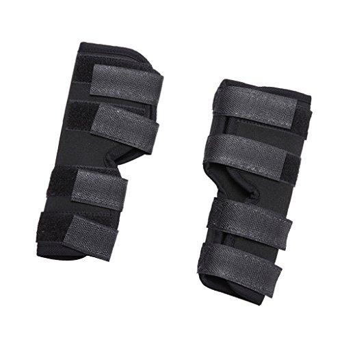 SunniMix Hund Hinten Bein Bandage Knieschutz Mit 4 Verstellbaren Klettverschluss - S
