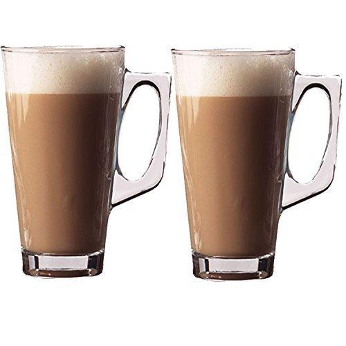 Cafe Latte 240ml Glasses 2 Pack by KEPLIN