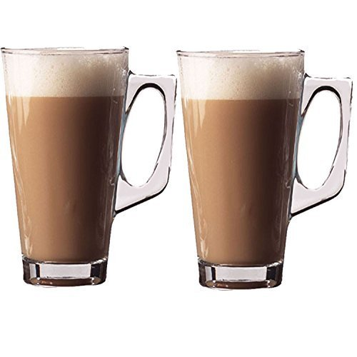 Cafe Latte 240ml Glasses [2 Pack] by Fusion