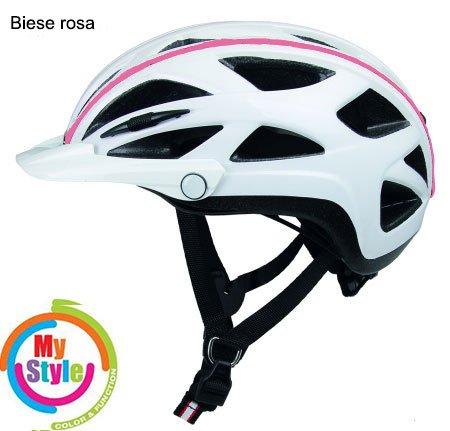 Casco Activ-TC weiss Biese rosa, Fahrradhelm, MTB Helm, Cityhelm (weiss Biese rosa, M (52-58))