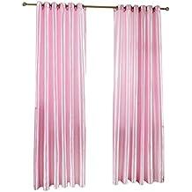 100x200 Cortina Panel Ambiente Persiana Colgante Jacquard Moderna Color Rosa