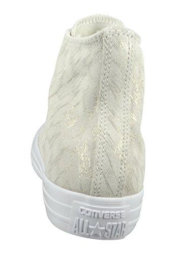 Converse Star Hi Damen Sneaker Neutral Buff Buff White