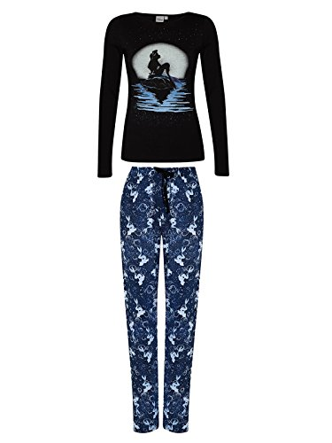 The Little Mermaid Moonshine Pigiama nero/blu XXL