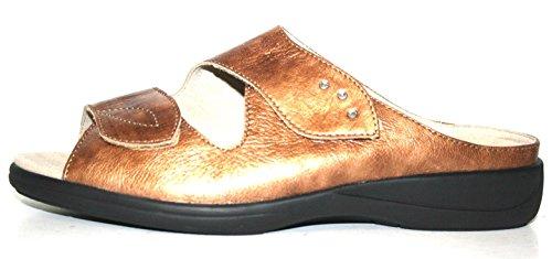 Lia 730560 124 0302 Solidus - donna Pantoletten, natur comfort, estraibile piedicon ietto, Weite H (Oro)