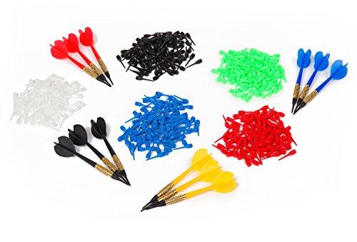 """Kings Dart Dartpfeil-Set """"Hobby"""" mit 12 Standard-Pfeilen in 4 versch. Farben mit 500 bunten Dartspitzen"""