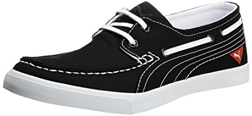 Puma Unisex Yacht Cvs Black Canvas Sneakers – 7 UK 41o8leHYetL
