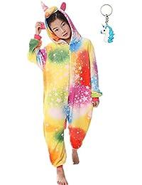 0c069959780 Landove Pijama Unicornio Niña Niño Mono Franela Kigurumi Animales Entero  Unisex Sleepsuit Romper Homewear Onesie Cosplay