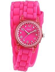Guess Damen-Armbanduhr XS Analog Quarz Silikon W65023L3