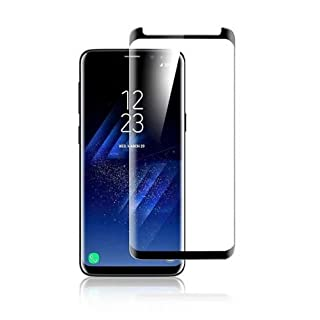 Samsung Galaxy S8 Full Cover Panzerglasfolie Folie Aktrend Panzerglas 3D 9h Curve Neue Version in Schwarz Black, 3D Panzer Glas für Samsung Galaxy S8 Curved 9H Display Schutz Folie Full Screen