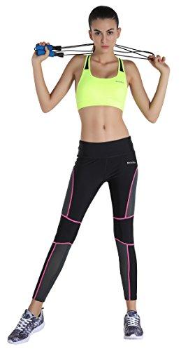 MotoRun Pantalón de Fitness para Mujer Mallas deportivas Transpirable
