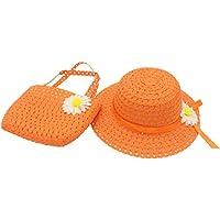 YOPINDO Cappello da sole in paglia di paglia Cappello da spiaggia borsetta  Borsa da cocktail cappello f97e6df1556f