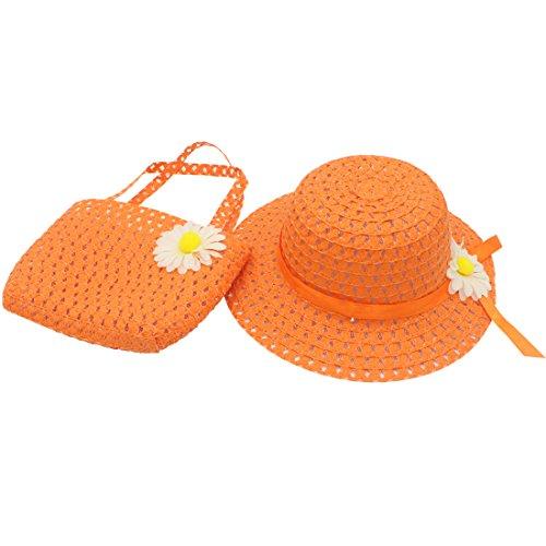 YOPINDO Beach Cap mit Handtasche verkleiden sich Hat Geldbörse Set 8 Farbe (Orange) (Mädchen Verkleiden Sich)