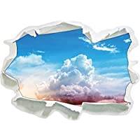 Cielo nuvoloso coperto sole, di carta 3D autoadesivo della parete formato: 62x45 cm decorazione della parete 3D Wall Stickers parete decalcomanie - Acqua Nuvoloso