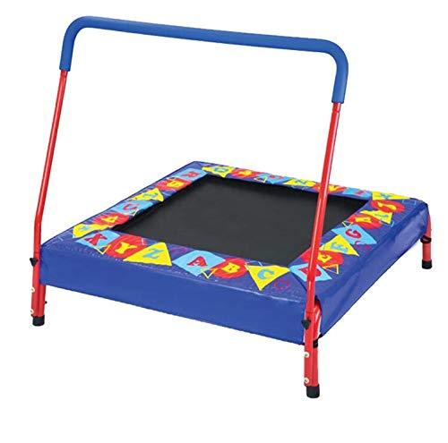CHENHS-Trampolin Haushalt Kind Innen- Mit Armlehnen Quadrat Klein Spielzeug Stumm Frühling Belastbarkeit (Color : Multi-Colored, Size : 92x94cm)